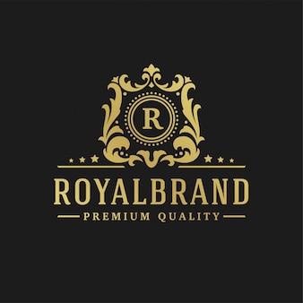 Letra de design de logotipo de luxo r