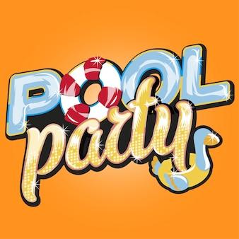 Letra de festa na piscina