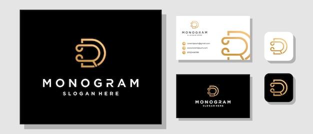 Letra de iniciais rd dr monograma design de logotipo de luxo moderno com layout de identidade de marca