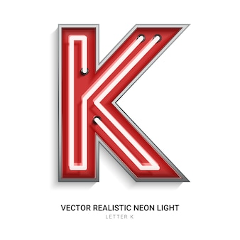 Letra de néon k
