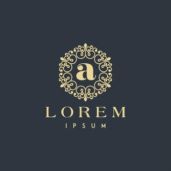 Letra de um logotipo de ornamento