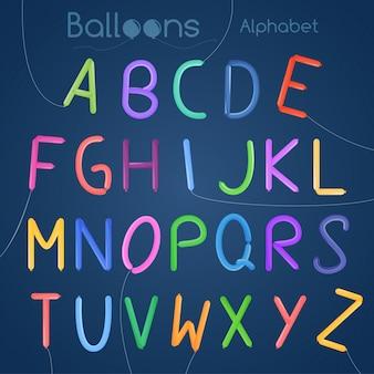 Letra do alfabeto de balões