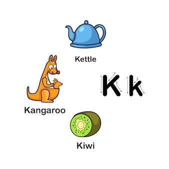 Letra do alfabeto k