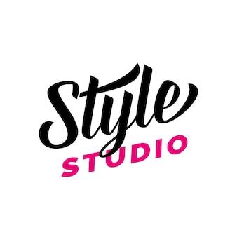 Letra do estilo studio para o logotipo Vetor Premium