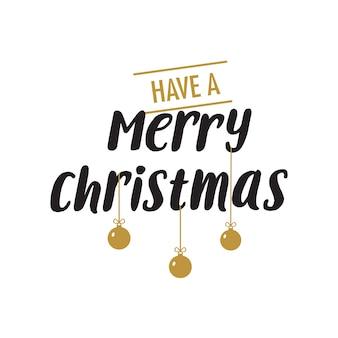 Letra do feliz natal com decorações