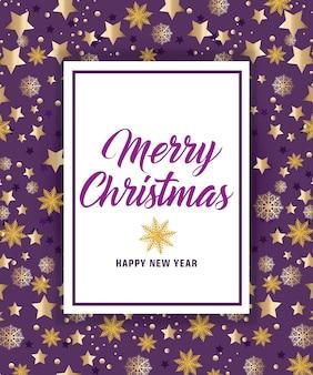 Letra do feliz natal com estrelas