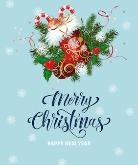 Letra do feliz natal com meia