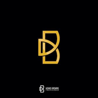 Letra do monograma b do ouro logo design