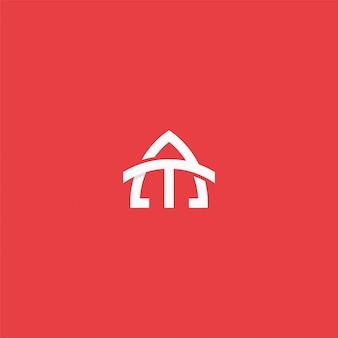 Letra do monograma no logotipo