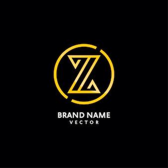 Letra do monograma z do ouro logo design