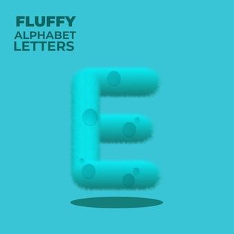 Letra e do alfabeto inglês com gradiente fofo