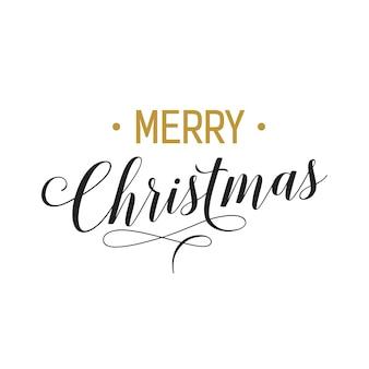 Letra e flourish do feliz natal