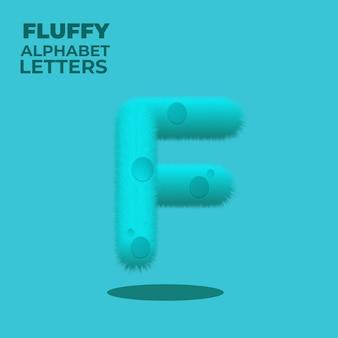 Letra f do alfabeto inglês com gradiente fofo