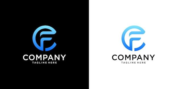 Letra f vetor de design de logotipo