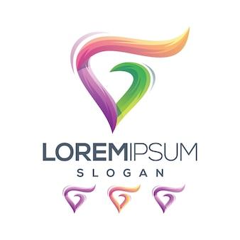 Letra g amor logotipo gradiente coleção