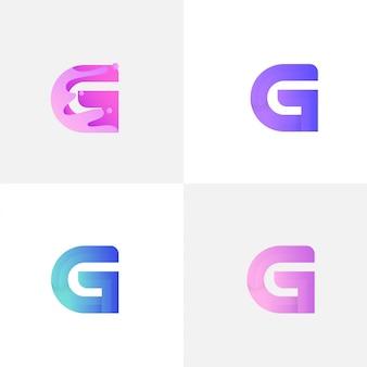 Letra g com líquido
