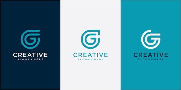 Letra g elemento de modelo de design de logotipo de forma moderna. conceito de design de logotipo da letra g