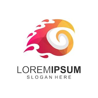 Letra g fogo cor do logotipo