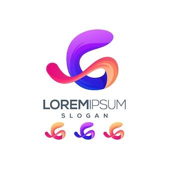Letra g gradiente cor logotipo