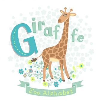 Letra g - ilustração de girafa