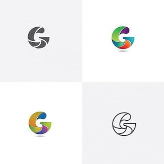 Letra g logo design com estilo diferente