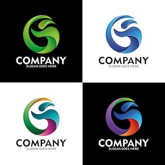 Letra g logotipo e pessoas com estilo de onda do mar, logotipo onda moderna, pessoas e letra g