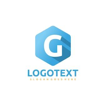 Letra g - logotipo exagonal