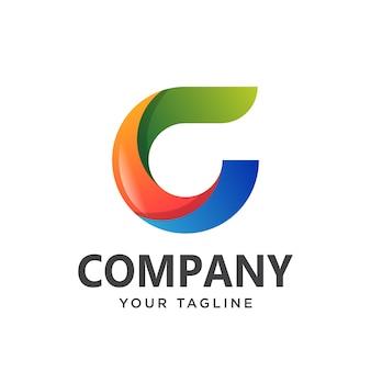 Letra g logotipo simples limpo.