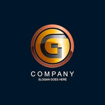 Letra g no logotipo de vetor