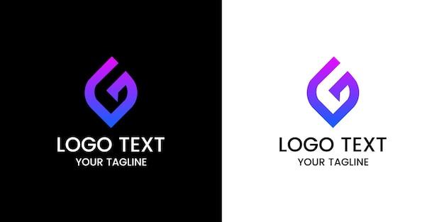 Letra g vetor de design de logotipo