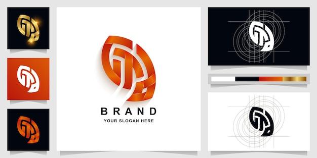 Letra gta ou modelo de logotipo de monograma a com design de cartão de visita
