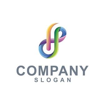 Letra h cor gradiente de logotipo
