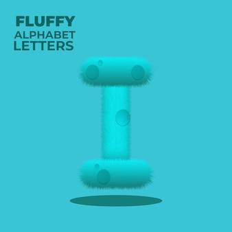 Letra i do alfabeto inglês com gradiente fofo