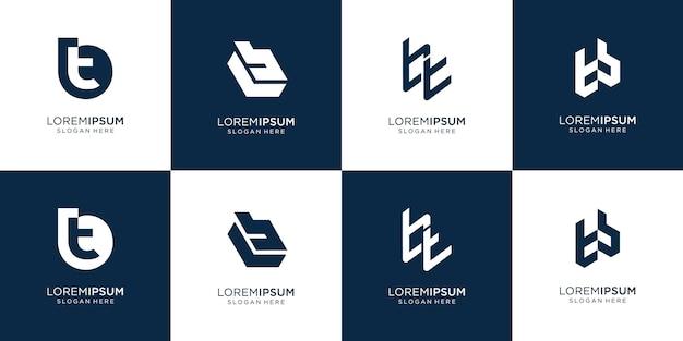 Letra inicial b e letra t logotipo template.icon criativo para negócios de luxo, elegante, abstrato.