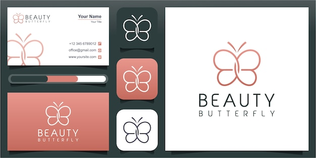 Letra inicial bb com elemento abstrato borboleta. linha minimalista arte monograma forma logotipo. ícone decorativo de tipografia com letra dupla b. iniciais maiúsculas. beleza, estilo spa de luxo.