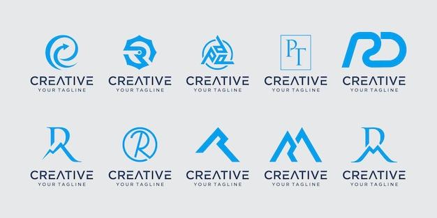 Letra inicial do monograma r rr logo ícone cenografia para negócios de consultoria de negócios de moda