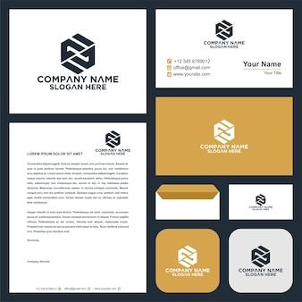 Letra inicial ff sheild company design logotipo e cartão de visita