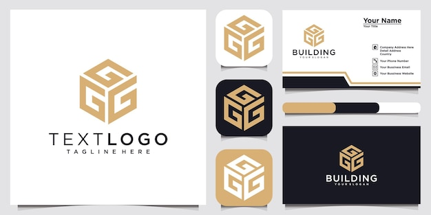 Letra inicial g modelo de design de logotipo ideia de conceito de logotipo e cartão de visita
