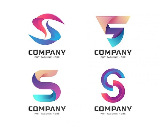 Letra inicial s logotipo modelo para empresa