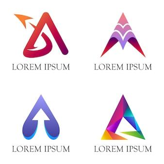 Letra inicial um logotipo empresarial