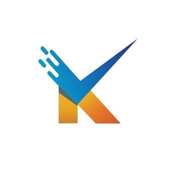 Letra k checklist logo vector