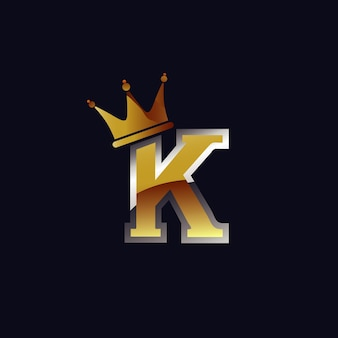Letra k com logotipo da coroa