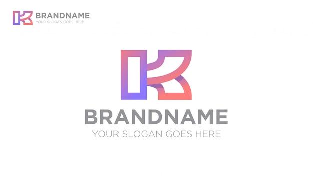 Letra k esporte logotipo