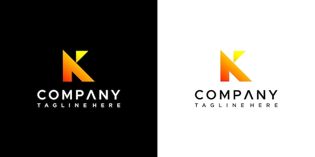 Letra k vetor de design de logotipo