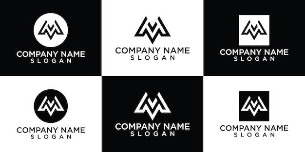 Letra m coleção de logotipo grátis
