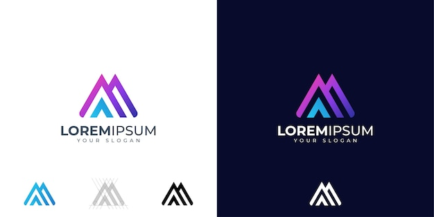 Letra m e a inspiração para o design do logotipo