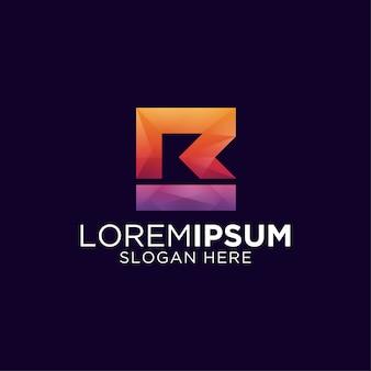 Letra m e r design de logotipo colorido gradiente m e r com estilo masculino