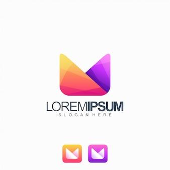 Letra m logotipo design ilustração vetorial