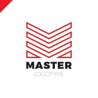 Letra m logotipo. logotipo abstrato de design de negócios