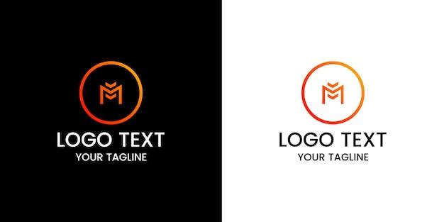 Letra m vetor de design de logotipo